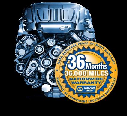 36 month 36,000 mile warranty